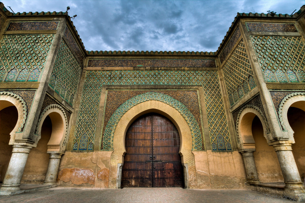 Bab Mansour at Sunset Time in Meknes Morocco