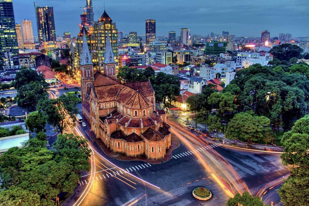 notre dame cathedral, ho chi minh